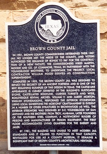 Brown County Jail Historical Marker